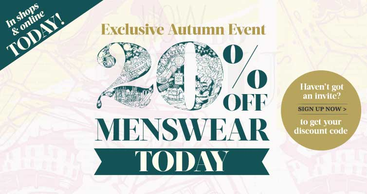 20% off Menswear