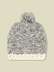 BOW KNIT BOBBLE HAT