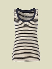 LOOPY SCOOP STRIPE VEST