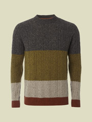 1GB COLOUR BLOCK CREW KNIT
