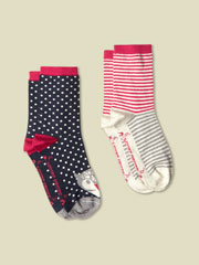 COTTON OWL AND SPOT SOCK 2 PACK